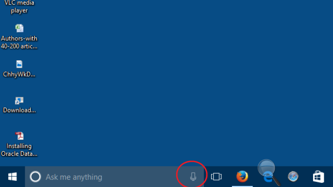Click on mic icon on cortana view and say some words in microphone