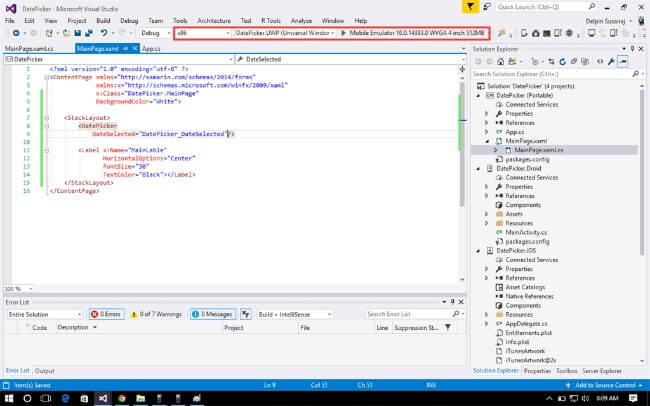 how to create a form in visual studio