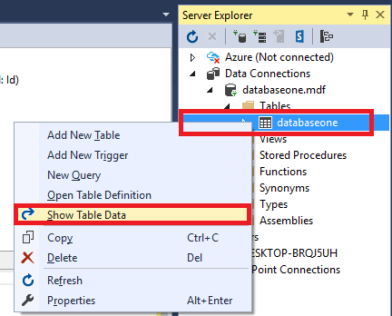 how to write sql query in visual studio 2012