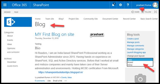 Create and manage a sharepoint blog on sharepoint online for Draw online share