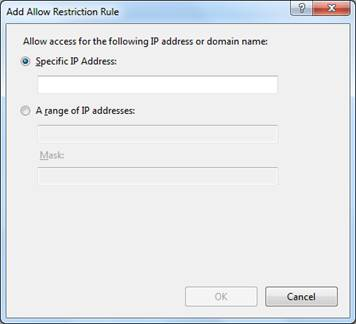 FTP IPv4 Address and Domain Restrictions