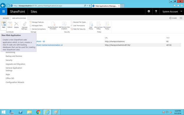 how to create new website in iis