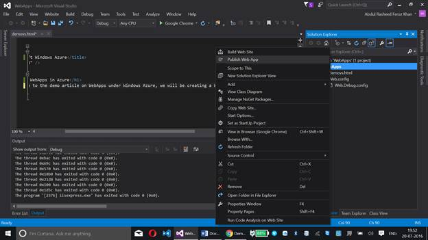 how to create app in visual studio
