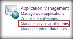 Manage Service Applications