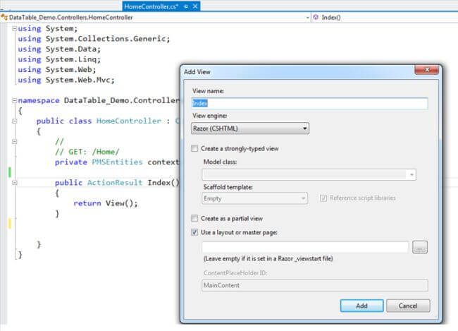 Crud operations in mvc using entity framework with ajax for Datatable css