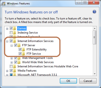 Enable FTP features