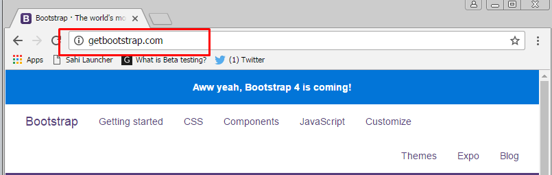 Getting started with bootstrap for Getbootstrap com templates