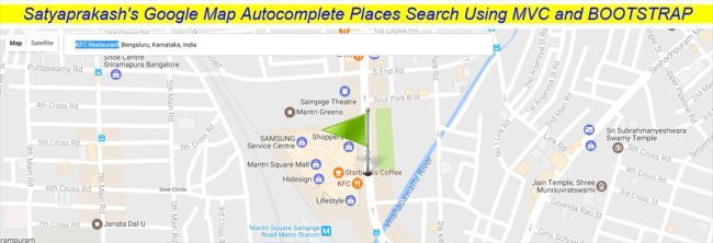 Google Maps- Find Places, Restaurants Etc. With Animated