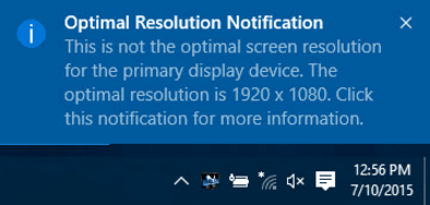 how to change resolution windows 10 2018