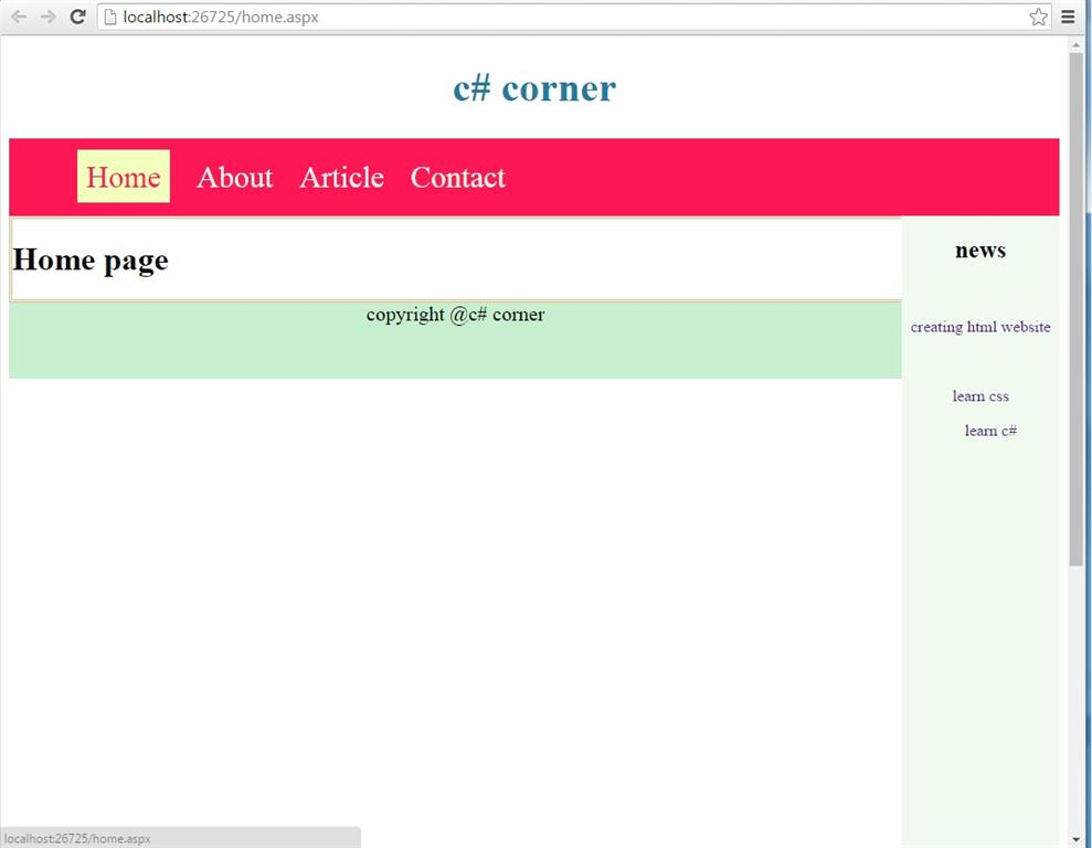 How to create master page in asp net - Asp net home page design ...