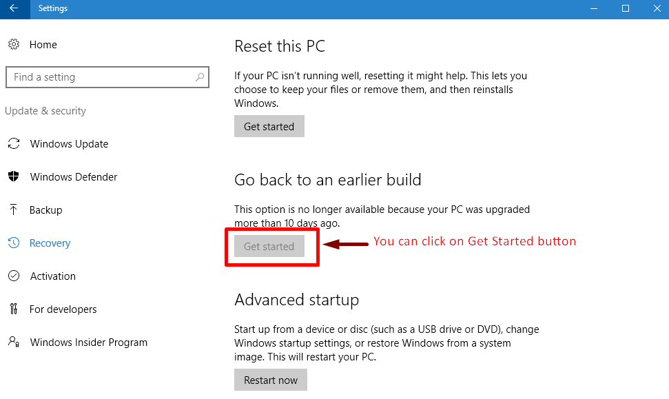 how to delete earlier version of windows in windows 10