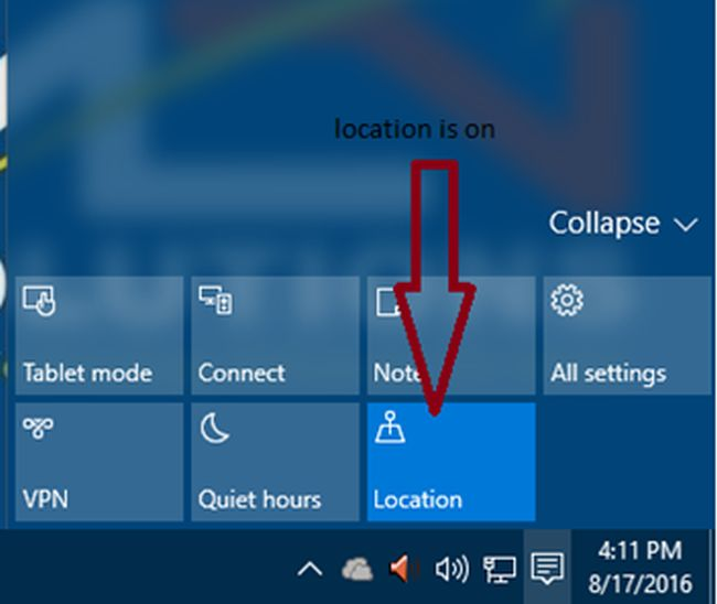 How to use action center in windows 10 for Window opens off screen
