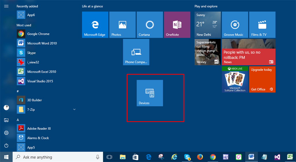 how to open bookmarks on windows 10