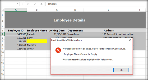 Implement Data Validations In Excel Using Vba Macro Before Uploading. In Case Of Invalid Data Employee Name We Will Get The Error Message While Saving Workbook. Worksheet. Excel Worksheet Name Validation At Mspartners.co
