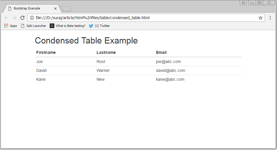 Introduction to bootstrap tables for Hover tr table