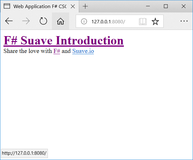 Suave with F#