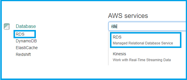 SQL Database in AWS