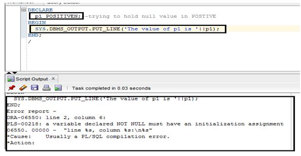POSITIVEN constraints NULL value