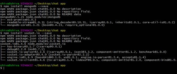 mongo chatrooms Develop your first multi room chat with nodejs, websockets and mongodb by vikash chatting or on leaving the chatroom mongodb will.