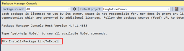 LinqToExcel library