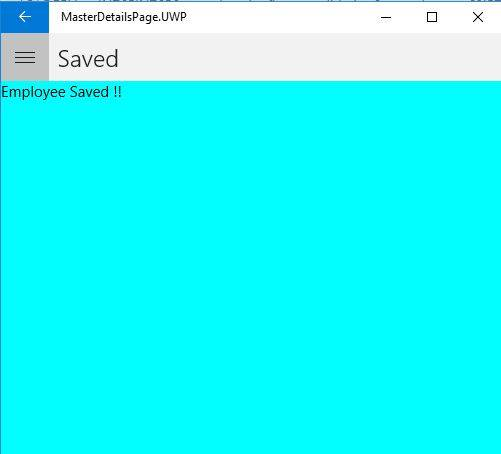 MasterDetailPage In Xamarin Forms Application