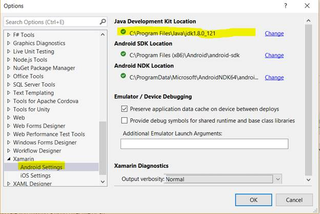 error please select android sdk