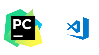 PyCharm vs Visual Studio Code; sorry for small VS Code icon, didn't mean any harm.