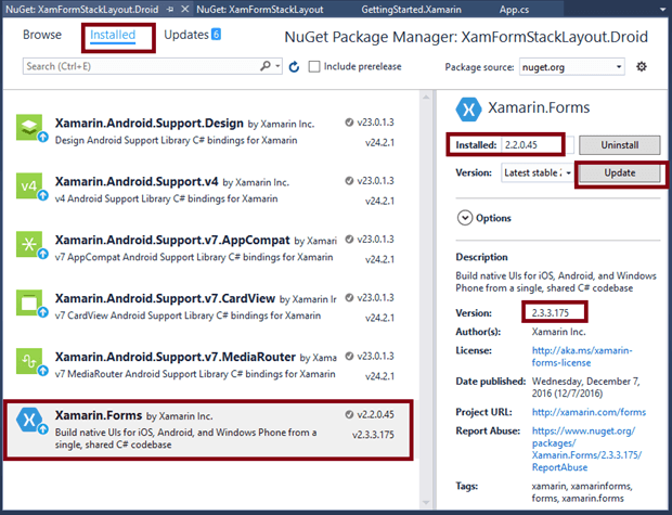how to add windwos universall project to xamarin