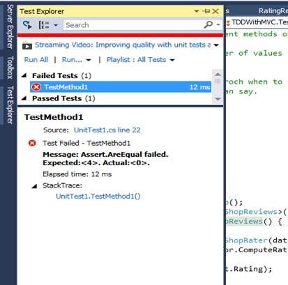 c mvc how to run unit tests
