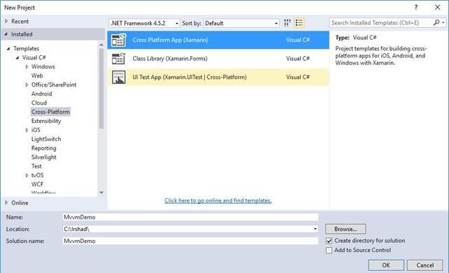 image002 Xamarin Application Template on forms chat ui, forms listview, forms project, forms shell project, form tabs,