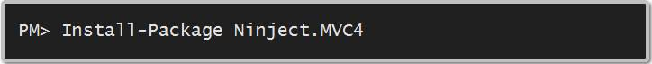 Install-Package Ninject.MVC4