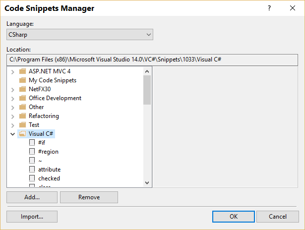 Code Snippet Manager